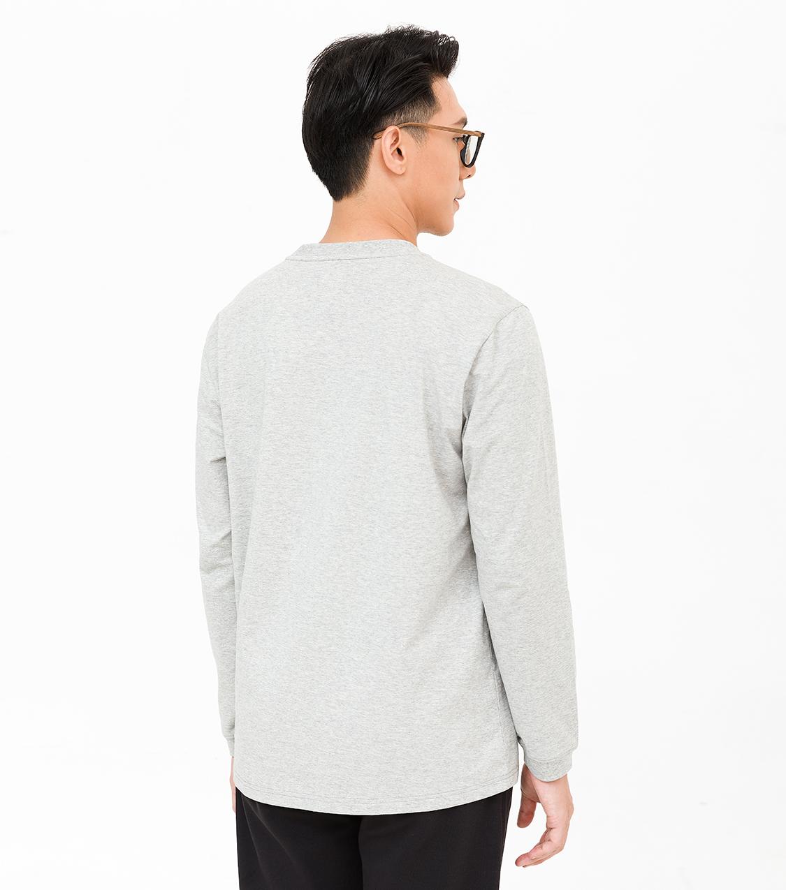 Áo thun dài tay nam Cotton Compact phiên bản Premium