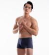 3 quần lót nam Trunk Cotton Compact co giãn màu xanh Navy