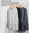 Combo 02 áo thun dài tay nam Cotton Compact phiên bản Premium màu trắng - màu xanh Navy