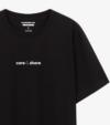 Áo thun nam Cotton Compact phiên bản Premium in Care&Share giữa áo màu đen