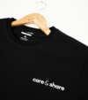 Áo thun nam Cotton Compact phiên bản Premium in Care&Share màu đen