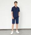 Combo 02 quần Short Kaki nam Vintage màu xanh navy - xám be